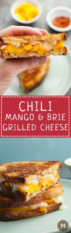 Chili Mango Brie Grilled Cheese: Chili and mango are made to be together and they perfectly with a creamy brie cheese in this grilled cheese sandwich. It's your new favorite thing. Trust me. | macheesmo.com