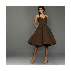 chocolate brown bridesmaid dresses found on Polyvore