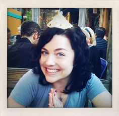 Amy Lee of Evanescence with short hair