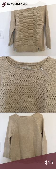 Loft Sweater Loft sweater with zipper detail LOFT Sweaters Crew & Scoop Necks