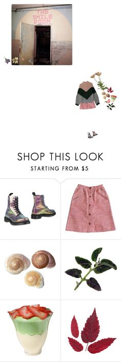 """Who decides who's crazy ?"" by she-began-to-dream ❤ liked on Polyvore featuring Dr. Martens and Courrèges"