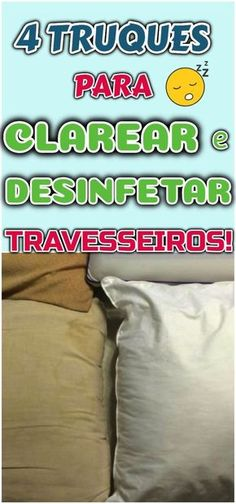 4 truques caseiros para clarear e desinfetar seus travesseiros – Vale apena - Flylady, Desperate Housewives, Home Hacks, Home Organization, Clean House, Home Art, Cleaning Hacks, Helpful Hints, Home Goods