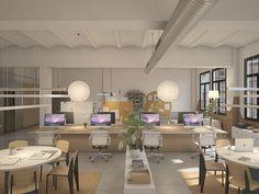 Oficinas 22@. Marzo 2016 Proyecto de oficinas en el distrito del 22@ en Poble Nou, Barcelona.  Oficinas para un estudio creativo. #diseñointerior #interiordesign #barcelona #diseñooficinas #office #light #luz #workingspace #openspace #industrial