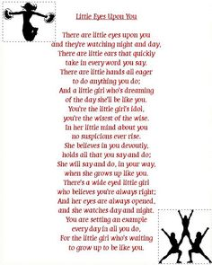It says its a cheer leading quote but I think this is perfect for mothers of… Cheerleading Quotes, Cheer Quotes, Me Quotes, Cheerleading Gifts, All Star Cheer, Cheer Mom, Youth Cheer, Cheer Stuff, Sister Poems