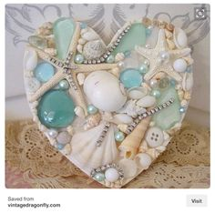 Coastal heart decor