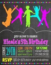 Birthday Invitation Skyzone Jump Indoor trampoline