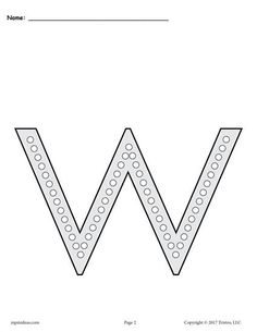 FREE Printable Lowercase Letter w Q-Tip Painting Printables! Letter W worksheets like these are perfect for preschoolers and kindergartners. Practice letter recognition, fine motor skills, and more with our dot painting printables! Get the free letter W coloring pages and alphabet worksheets here --> https://www.mpmschoolsupplies.com/ideas/7830/free-letter-w-q-tip-painting-printables-includes-uppercase-and-lowercase-letter-w-worksheets/
