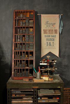 lovely studio by somethings hiding in here, via Flickr