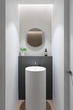 Schmales Badezimmer Einrichten Standwaschbecken