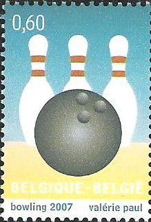Bélgica. Tema: Deportes. Bowling. Año: 2007.