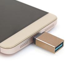 [USD1.54] [EUR1.41] [GBP1.11] Aluminum Alloy USB 3.1 Type-c Male to USB 3.0 Female Data / Charger Adapter for MacBook 12 inch, Chromebook Pixel 2015, Huawei 6P, LG 5X, Google 5X / 6P, Letv 1S / Le 1 Pro, Xiaomi 4C, Microsoft Lumia 950(Gold)
