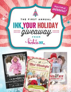 """Only a few ours left on the """"INK Your Holiday"""" Giveaway! Enter by 2pm PST TODAY to win one of several prizes! :) #giveaway #holiday #paperlicious"""