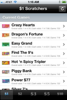 7 Best California Lotto Scratchers Tracker App images in 2012 | App