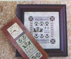 M Designs Thistle Clock & Sampler Cross Stitch by marymdesigns, $8.00