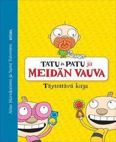 Title: Tatu ja Patu ja meidän vauva | Design: Aino Havukainen and Sami Toivonen Family Guy, Comics, Cover, Baby, Fictional Characters, Design, Yellow, Cartoons