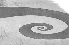 Jim Denevan is an American artist from Santa Cruz, California famed for his inspiring temporary land art.