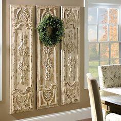 Distressed Vintage Door Wooden Panel | Kirklands