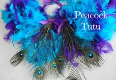 how to make peacock tutu with feather boas complete instructions Peacock Tutu Cover Picture.jpg