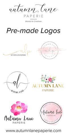 Autumn Lane Paperie specializes in brands & websites for creative professionals, from our premade logos to the full experience - we've got what you need.