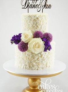 Fresh Flowers Wedding Anniversary Cake