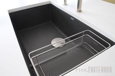 Thinking about the BLANCO SILGRANIT Sink? BLANCO SILGRANIT PRECIS CASCADE undermount sink (in cinder) | pink little notebook. BUY SINK HERE--> http://amzn.to/28SydKf #affiliatelink
