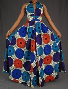 African Fashion African Print maxi dress / African print Dress / Ankara dress Why Nomex AP Shirts An African Evening Dresses, Latest African Fashion Dresses, African Dresses For Women, African Print Dresses, African Print Fashion, Africa Fashion, African Attire, African Wear, African Style