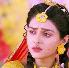 Radha Krishna Love Quotes, Radha Krishna Pictures, Krishna Radha, Indian Tv Actress, Septum Ring, Pure Products, Stars, Beautiful, Actresses