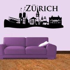 Du bist ein Fan von der Stadt Zürich? Dann bestell noch heute die Skyline von Zürich und verschönere somit deine Wohnung. #Zürich #Skyline #Wadeco //   http://www.wadeco.de/skyline-zuerich-wandtattoo.html
