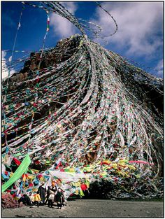 Namtso Lake | Tibet / © salva magaz  Prayer flags....