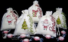 Muslin Treat Bags by lisa foster - Cards and Paper Crafts at Splitcoaststampers