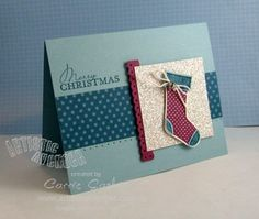 Stitched Stocking Christmas Card