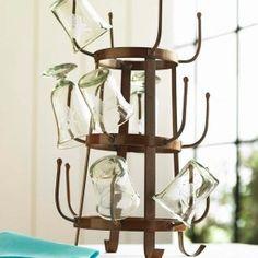 Iron Glass Display and Drying Rack