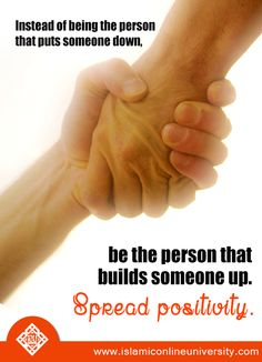 Putting others down does not lift you up!