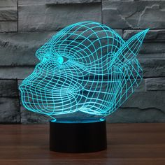 The new gorilla colorful 3D lights touch switch lamp LED stereo vision illusion light gradient colorful Nightlight