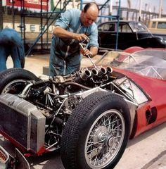 Maserati Birdcage.  This 2.9 liter 4 cylinder generated 250 hp