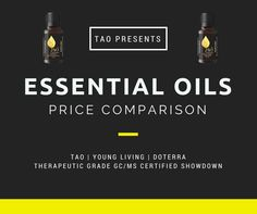 Young Living and DoTerra, the two giants in therapeutic grade essential oils, getting beat out on price and purity/potency.  The high overhead of their MLM business models are being exposed and put to the test with Tao Essential Oils taking the marketplace by storm.  Now, a direct price comparison chart has been released and is clear for a no brainer decision on where to turn for your next order of therapeutic grade GC/MS certified essential oils!