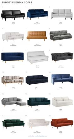 The Ultimate Budget-Friendly Living Room Furniture Roundup - Emily Henderson Living Room Decor Furniture, Living Room Sofa Design, Living Room On A Budget, Living Room Sets, Interior Modern, Modern Sofa Designs, Living Room Accessories, Small Apartment Decorating, Furniture Styles