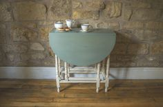 Your place to buy and sell all things handmade Duck Egg Blue Chalk Paint, Annie Sloan Old White, Paint Drop, Xmas 2015, Drop Leaf Table, Space Saving, Gate, Leaves, Pallets