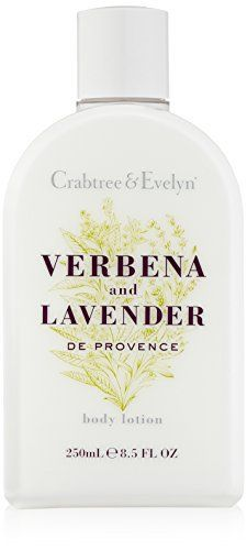 (Product review for Crabtree & Evelyn Body Lotion, Verbena and Lavender de Provence, 8.5 fl. oz.). Drench your skin with our Verbena and Lavender de Provence Body Lotion. A blend of uplifting herbaceous fragrance and moisturizing glycerin, this lightweight lotion is infused with French verbena and lavender extracts to condition and freshen the skin. So it's left soft, scented and ready...