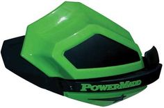 PowerMadd Star Series Mirror on Arctic Cat green Star Series guard with matching extension.