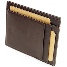 fc30716222fa4b Hammer Anvil RFID Blocking Genuine Leather Front Pocket Wallet Card Case  Brown