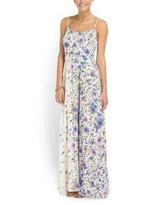 Juniors Floral Maxi Dress   $19.99