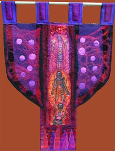Jan Cook. Shadrach,Mishak and Abednigo in the Fiery Furnace. Textile construction