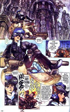 Ghost in the Shell Manga - Chapter 7 Page 4 Masamune Shirow Manga Art, Manga Anime, Anime Art, Character Art, Character Design, Masamune Shirow, Motoko Kusanagi, Arte Cyberpunk, Old Anime