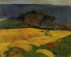 by Paul Gauguin in oil on canvas, done in . Find a fine art print of this Paul Gauguin painting. Paul Gauguin, Henri Matisse, Renoir, Vincent Van Gogh, Monet, Paul Cézanne, National Gallery, Scenery Pictures, Impressionist Artists