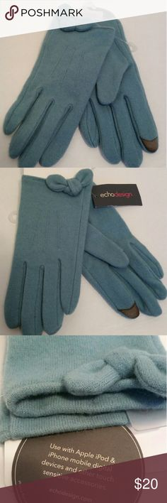 Nwt Echo Design gloves XL Nwt Echo Design gloves XL Blue  Excellent condition no flaws   Can be used with mobile cellphones/touch sensitive devices Echo Design Accessories Gloves & Mittens