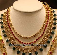 Jewellery Designs: Trendy Necklace by Manepally Jewels