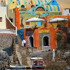 Dream of Going: Colorful Nubian village on the banks of river Nile, Egypt  (by Ali M.Sabry)