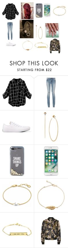 """""""My dream outfit tonight"""" by nejlahusetovic61 ❤ liked on Polyvore featuring Yves Saint Laurent, Converse, Michael Kors, Kate Spade, Missoma and Topshop"""