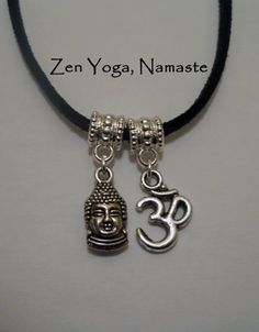 Namaste Yoga & Zen Buddha Pendants Necklace by marviellesjewelry, $12.00